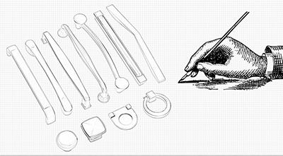 Modern Handles Sketch