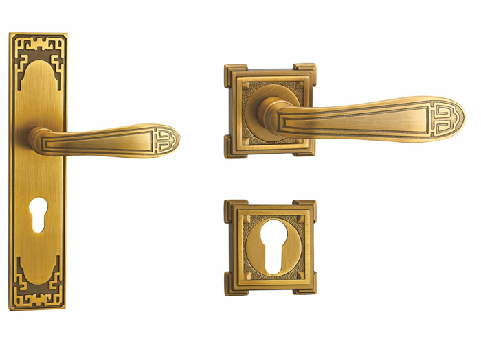 Classical  Door Handles With Backplate