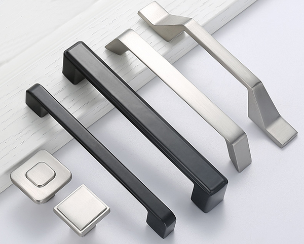 silver color furniture handles